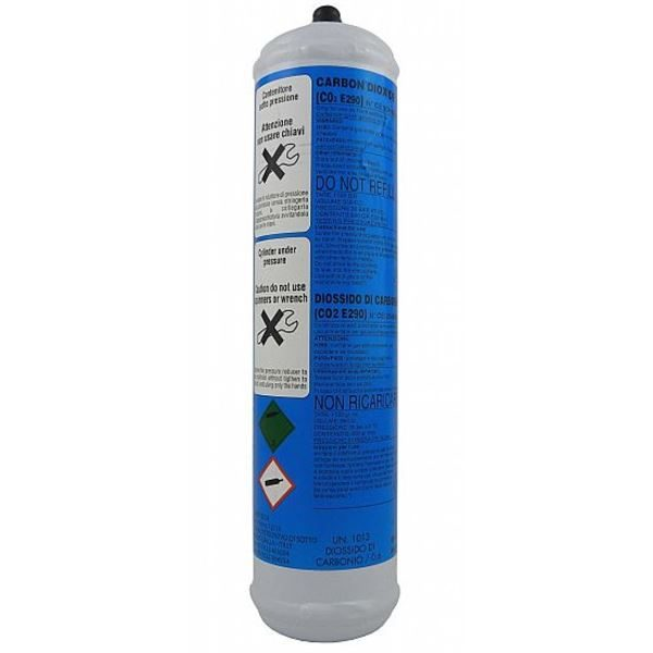Co2 Cylinder, For Fizzy & Sparkling Water, 2 Pack of 600gram